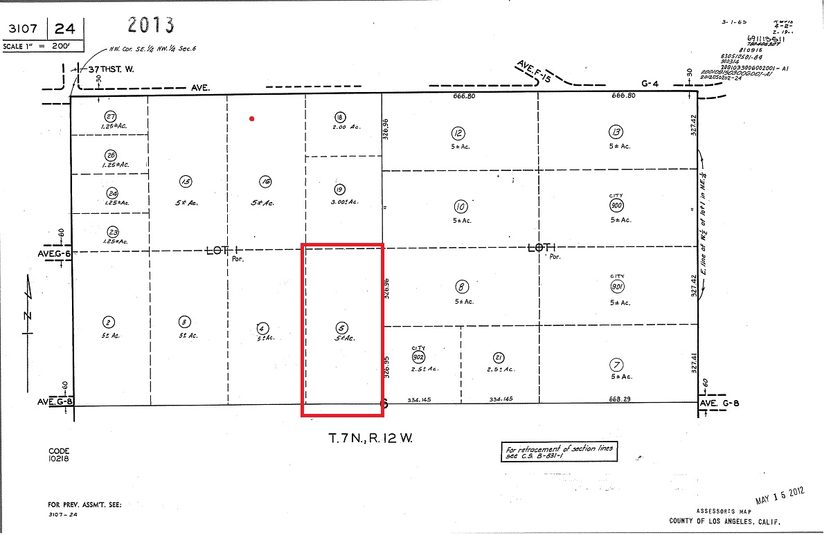 5 Acre Industrial Zoned Land W Avenue G8 37th Stw Lancaster Ca